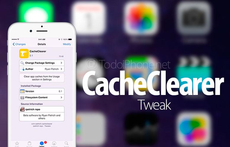 CacheClearer ، القرص الذي سيؤدي إلى مسح ذاكرة التخزين المؤقت لتطبيقات iPhone 1