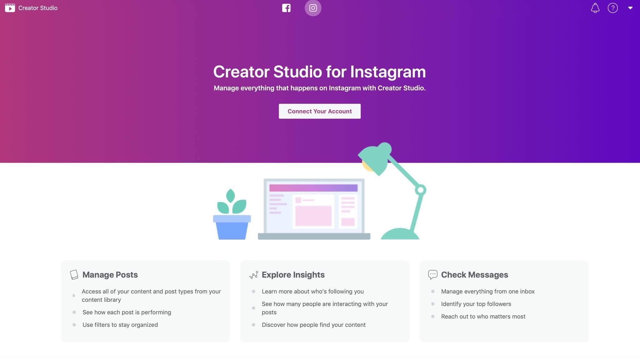 Facebookيتيح لك Creator Studio جدولة المشاركات Instagram