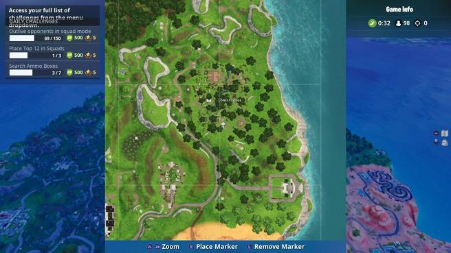 Fortnite Lonely Lodge Chest Locations - All Lonely Lodge Chest Sites 1
