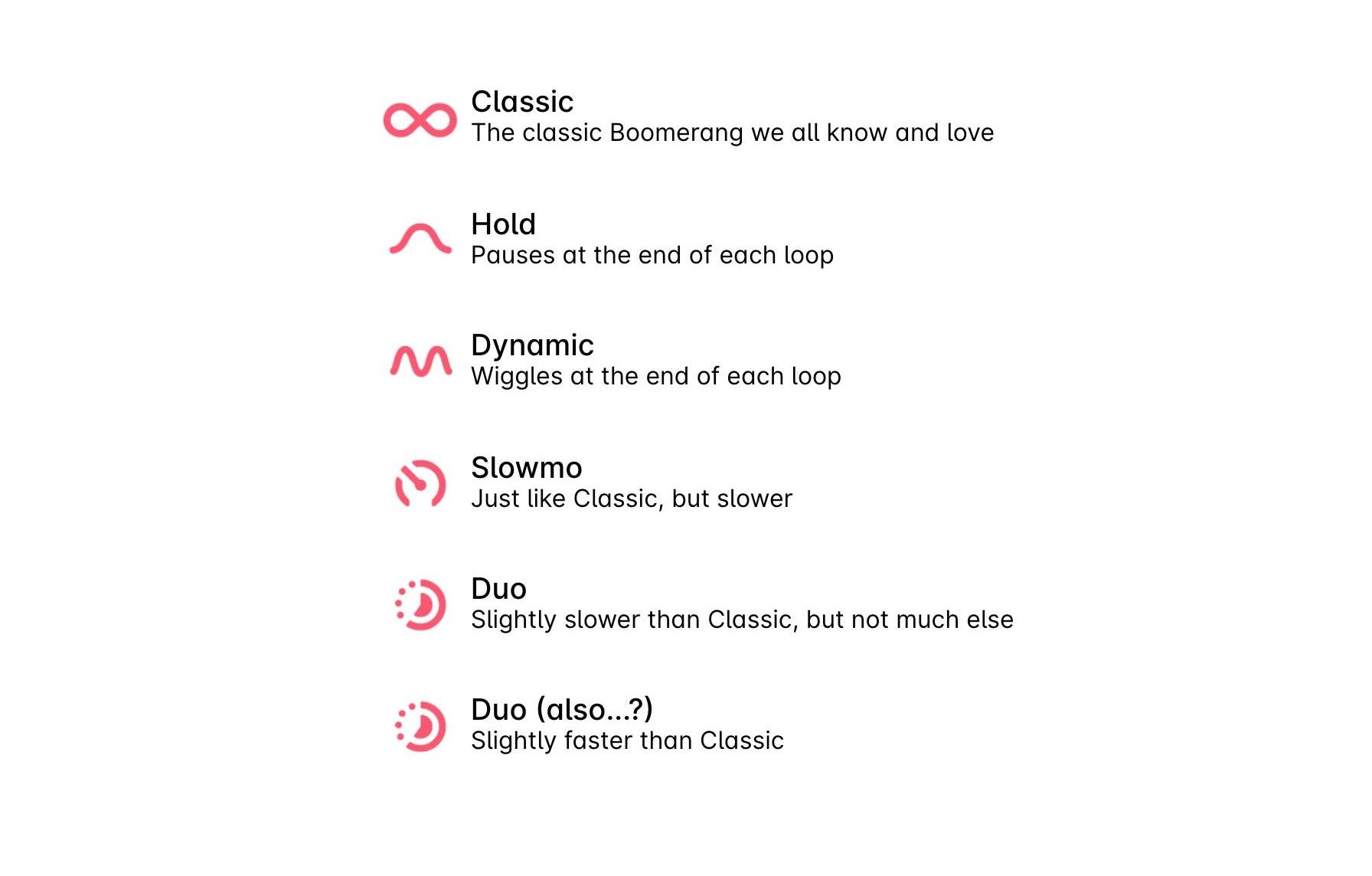 Instagram جرب خمسة تأثيرات جديدة لـ Boomerang 1
