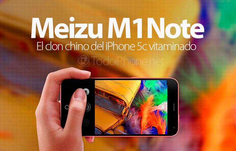 MEIZU M1 Note، استنساخ صيني لفيتامين iPhone 5c 1
