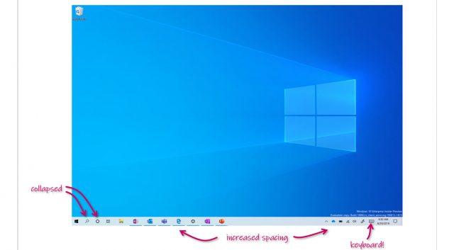 Microsoft Demos Touch-Optimized Desktop in Latest Windows 10 بناء الداخل 1