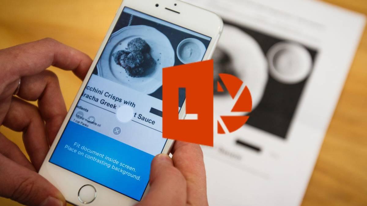 Office Lens ، قم بتحويل هاتفك إلى ماسح ضوئي للجيب 1