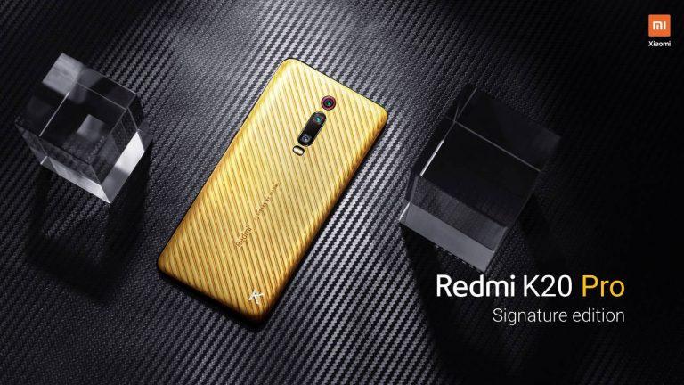 Redmi K20 Pro ، مسؤول إصدار التوقيع في الذهب الخالص أكثر من 6000 € 1