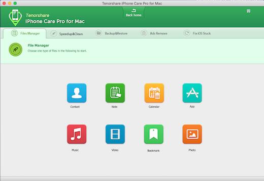 Tenorshare iPhone Care Pro لنظام التشغيل Mac ، وتنظيم وإصلاح وتنظيف اي فون الخاص بك 3