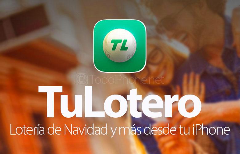 TuLotero ، يانصيب عيد الميلاد ، حمامات السباحة ، Euromillions وأكثر من ذلك بكثير على iPhone الخاص بك 1