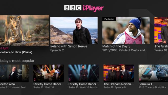 Apple  تلفزيون بي بي سي iPlayer