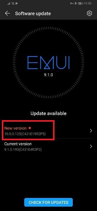 تحصل عائلة Huawei Mate 10 و Honor V20 (عرض 20) على نسخة تجريبية أخرى قبل إصدار EMUI 10 1