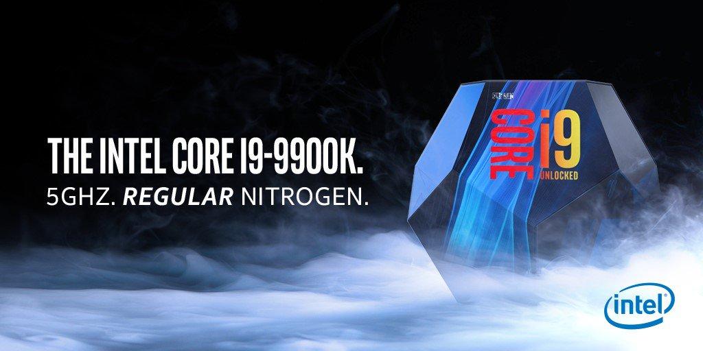 Intel Core i9 9900K يثير الإعلان AMD 0