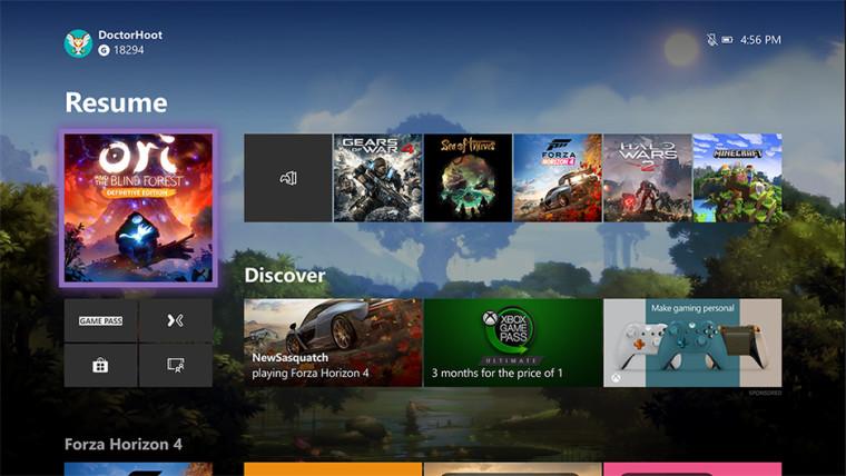 يمكن لـ Insider Xbox مرة أخرى اختبار لوحة معلومات Xbox One المعاد تصميمها 2