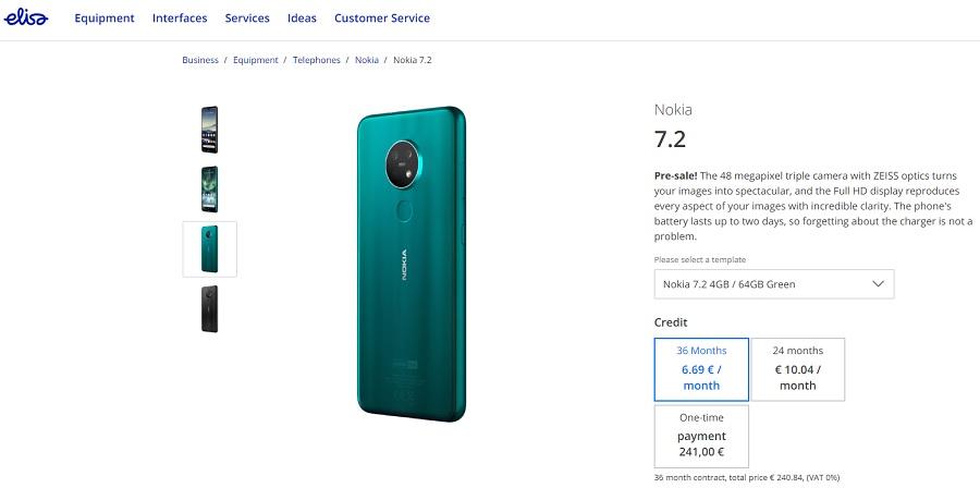تم فتح تسجيلات نوكيا 7.2 و Nokia 6.2 في فنلندا 1