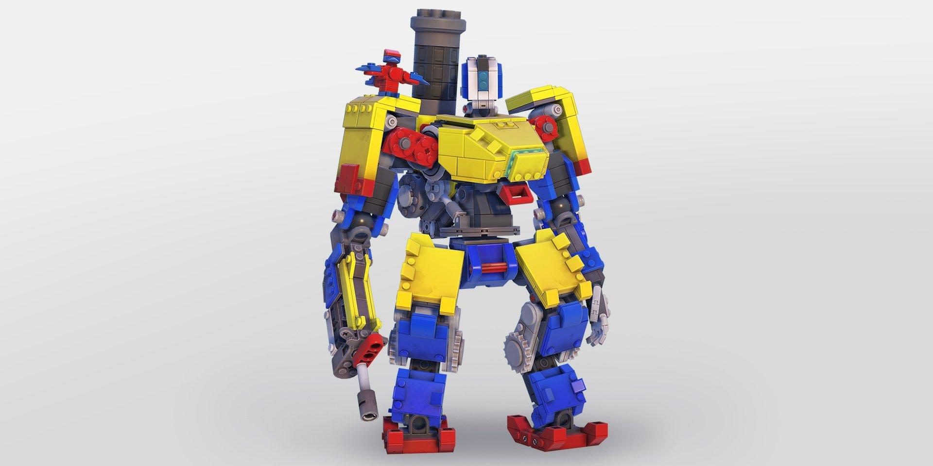 حصن Overwatch & يحصل على تحول LEGO مع بشرة جديدة 1