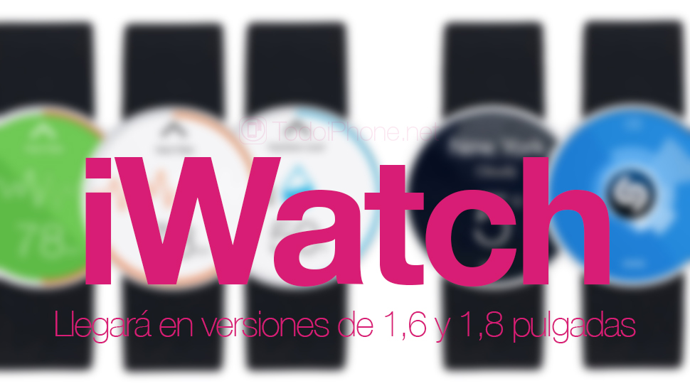 سيصل iWatch في إصدارات 1.6 و 1.8 بوصة 1