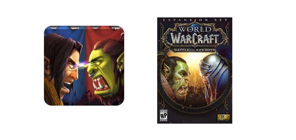 مقارنة بين شعار Glorious Saga و Battle for Azeroth من الدعوى