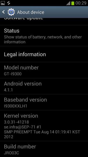 قم بتثبيت الإصدار XXDLH4 Android 4.1.1 Galaxy S3 I9300 جيلي بين البرامج الثابتة قبل الرسمية مع أودين 1