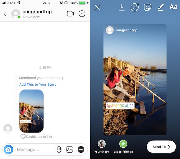 كيفية إعادة نشر Instagram قصة كنت قد تم وضع علامة في