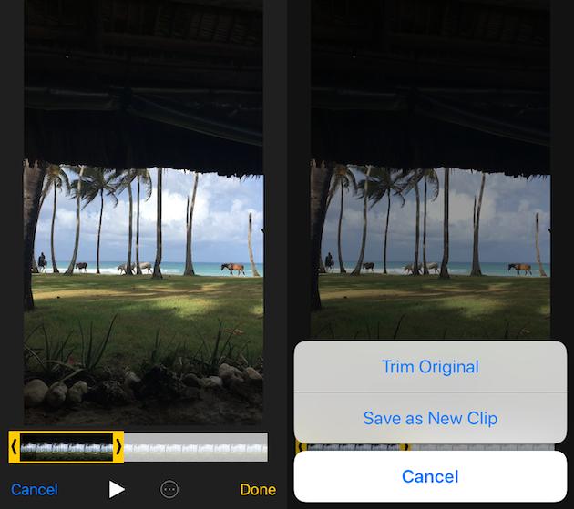 كيف تقطع فيديو iPhone إلى قسمين