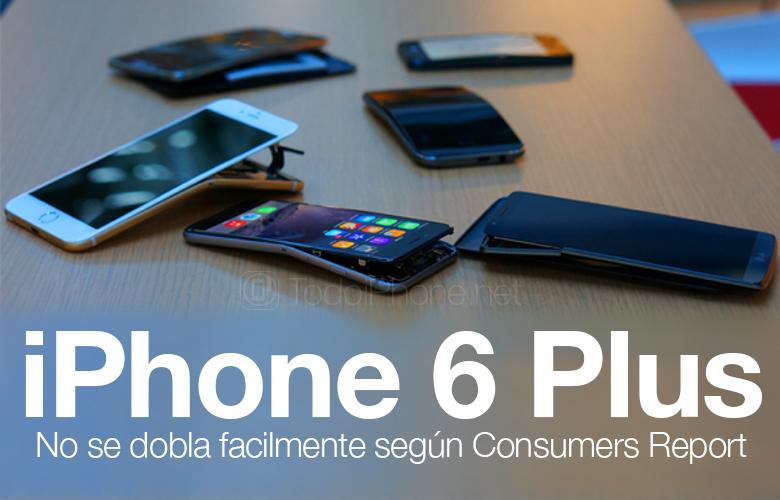 لا يطوى iPhone 6 Plus بسهولة وفقًا لتقارير المستهلك 1