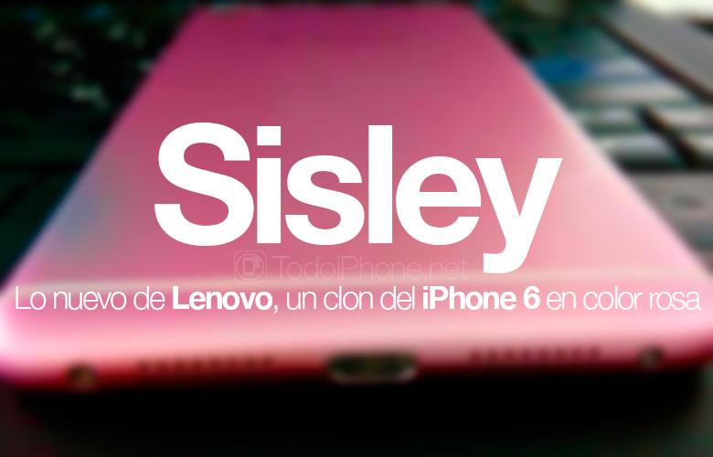 لينوفو سيسلي ، استنساخ للآيفون 6 باللون الوردي 1