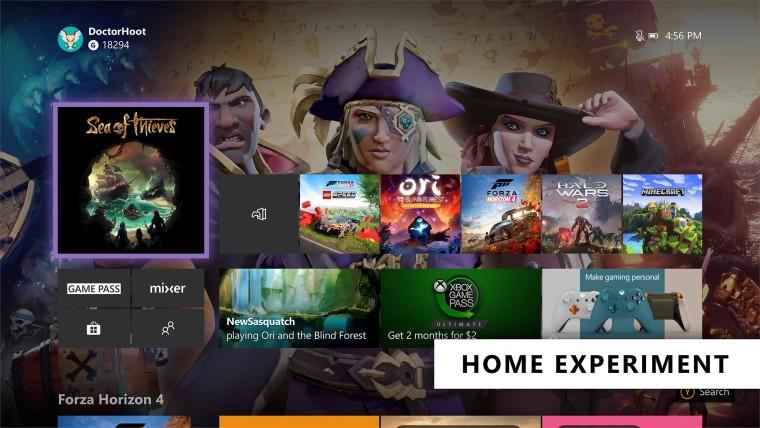 يمكن لـ Insider Xbox مرة أخرى اختبار لوحة معلومات Xbox One المعاد تصميمها 1