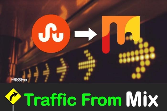 استخدام مزيج لدفع حركة المرور إلى مدونتك