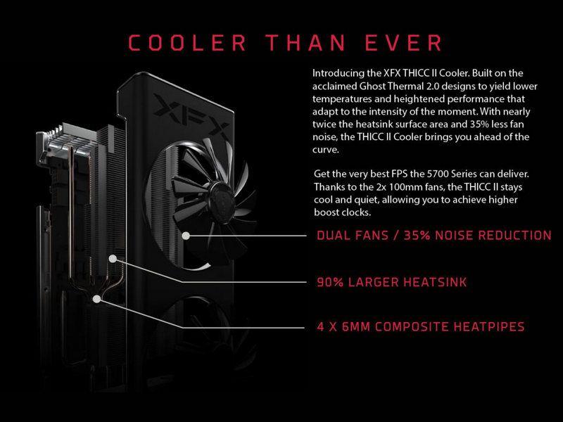 تقدم XFX نظام RX 5700 XT THICC II المذهل بنظام تبريد مبتكر