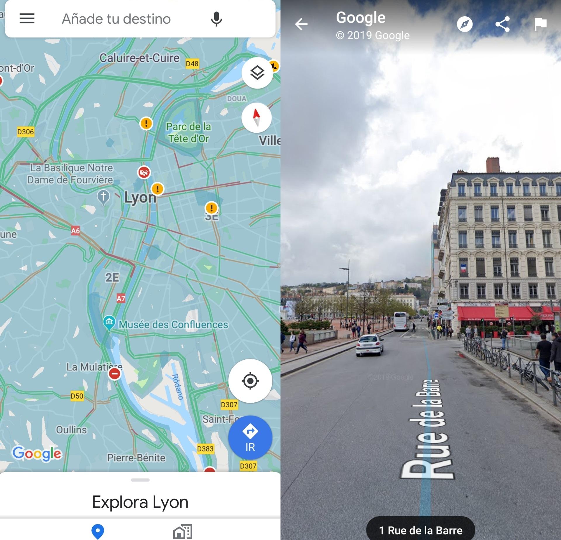 عرض الشوارع في خرائط جوجل