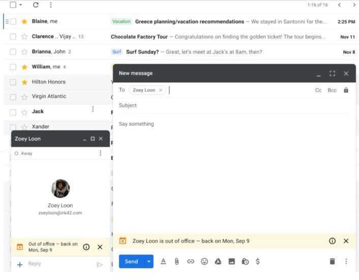 ستُعلم Gmail جهات الاتصال الخاصة بك أنك في إجازة قبل إرسال بريد إلكتروني إليك 2
