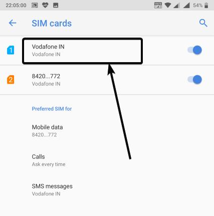 ابحث عن بطاقات SIM المتصلة بهاتفك المحمول
