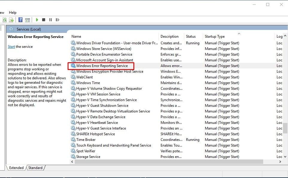 """عن طريق Windows الخدمات """"width ="""" 963 """"height ="""" 595 """"srcset ="""" https://applexgen.com/ar/wp-content/uploads/2019/09/1567489250_523_كيفية-تعطيل-الإبلاغ-عن-خطأ-في-Windows-10.jpg 963w ، https://techviral.net/wp-content/uploads/2016/07/Windows-error-reporting-3-300x185.jpg 300w ، https://techviral.net/wp-content/uploads/2016/07/Windows-error-Reporting-3-768x475.jpg 768w ، https://techviral.net/wp-content/uploads/2016/07/Windows-error-Reporting-3-356x220.jpg 356w ، https://techviral.net/wp-content/uploads/2016/07/Windows-error-Reporting-3-696x430.jpg 696w ، https://techviral.net/wp-content/uploads/2016/07/Windows-error-Reporting-3-680x420.jpg 680w """"data-lazy-sizes ="""" (أقصى عرض: 963 بكسل) 100 فولت ، 963 بكسل"""
