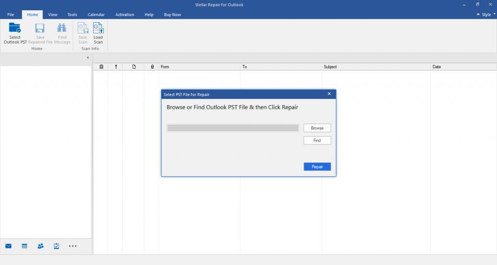 خطوات إصلاح ملف PST الخاص بحساب POP3 في Outlook 2016 أو 2019 1