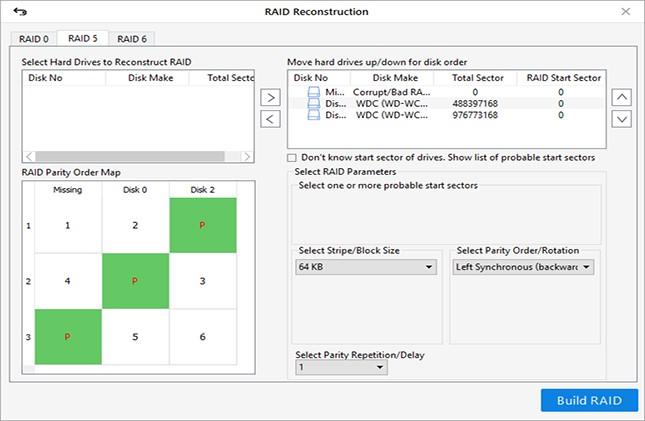 خطوات لتنفيذ استعادة البيانات دون جهد من محركات الأقراص الصلبة RAID 5