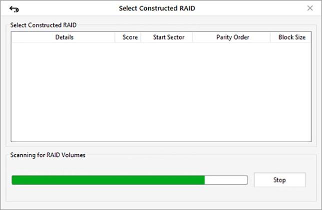 خطوات لتنفيذ استعادة البيانات دون جهد من محركات الأقراص الصلبة RAID 8