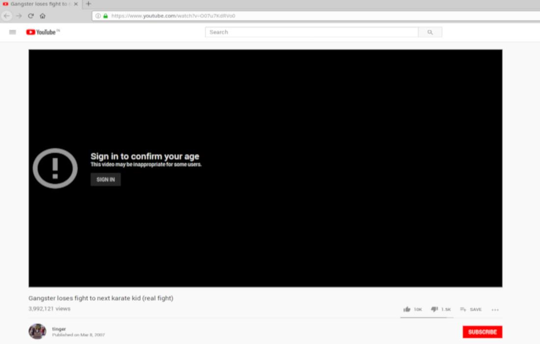 تقييد يوتيوب