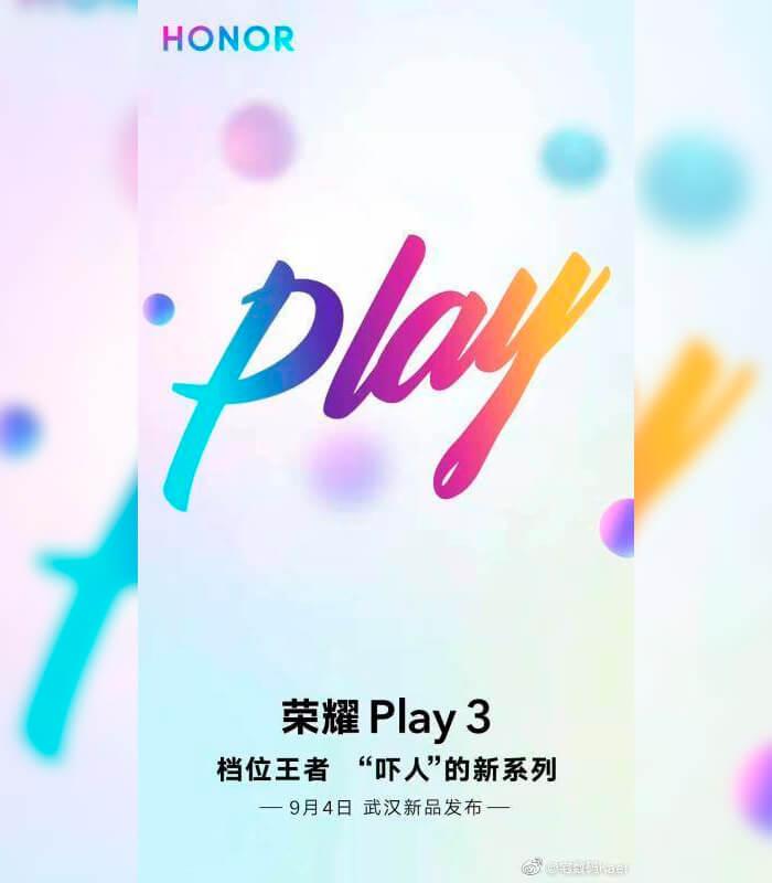 Honor Play cartel anuncio