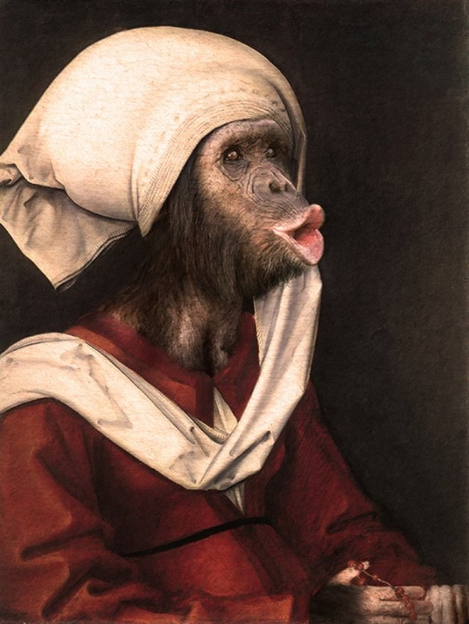 25 صور مسلية للحيوانات Photoshipped في لوحات عصر النهضة 5