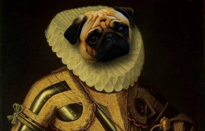 25 صور مسلية للحيوانات Photoshipped في لوحات عصر النهضة 8