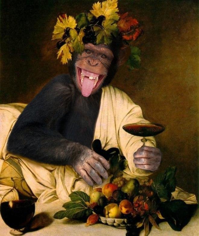 25 صور مسلية للحيوانات Photoshipped في لوحات عصر النهضة 7