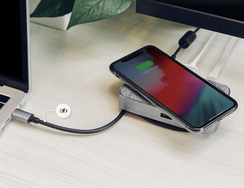 Moshi Symbus Q الشحن اللاسلكي USB-C Dock