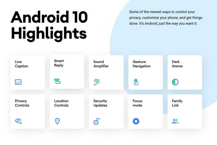 موقع Android 10 الجديد