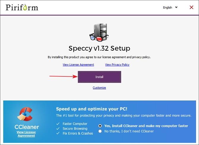 كيفية التحقق من أجهزة الكمبيوتر المحمول مع Speccy