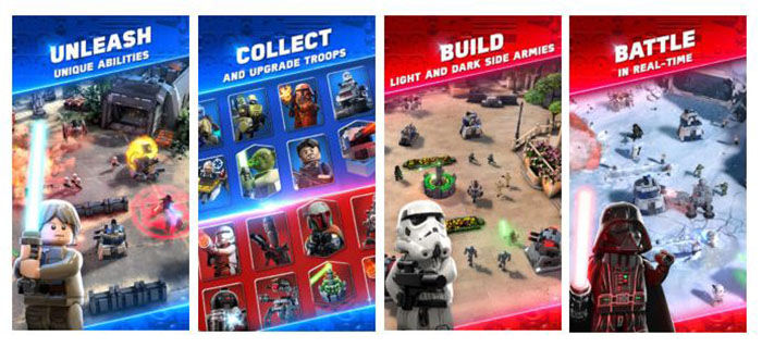 """LEGO Star Wars Battle Android """"width ="""" 700 """"height ="""" 320"""