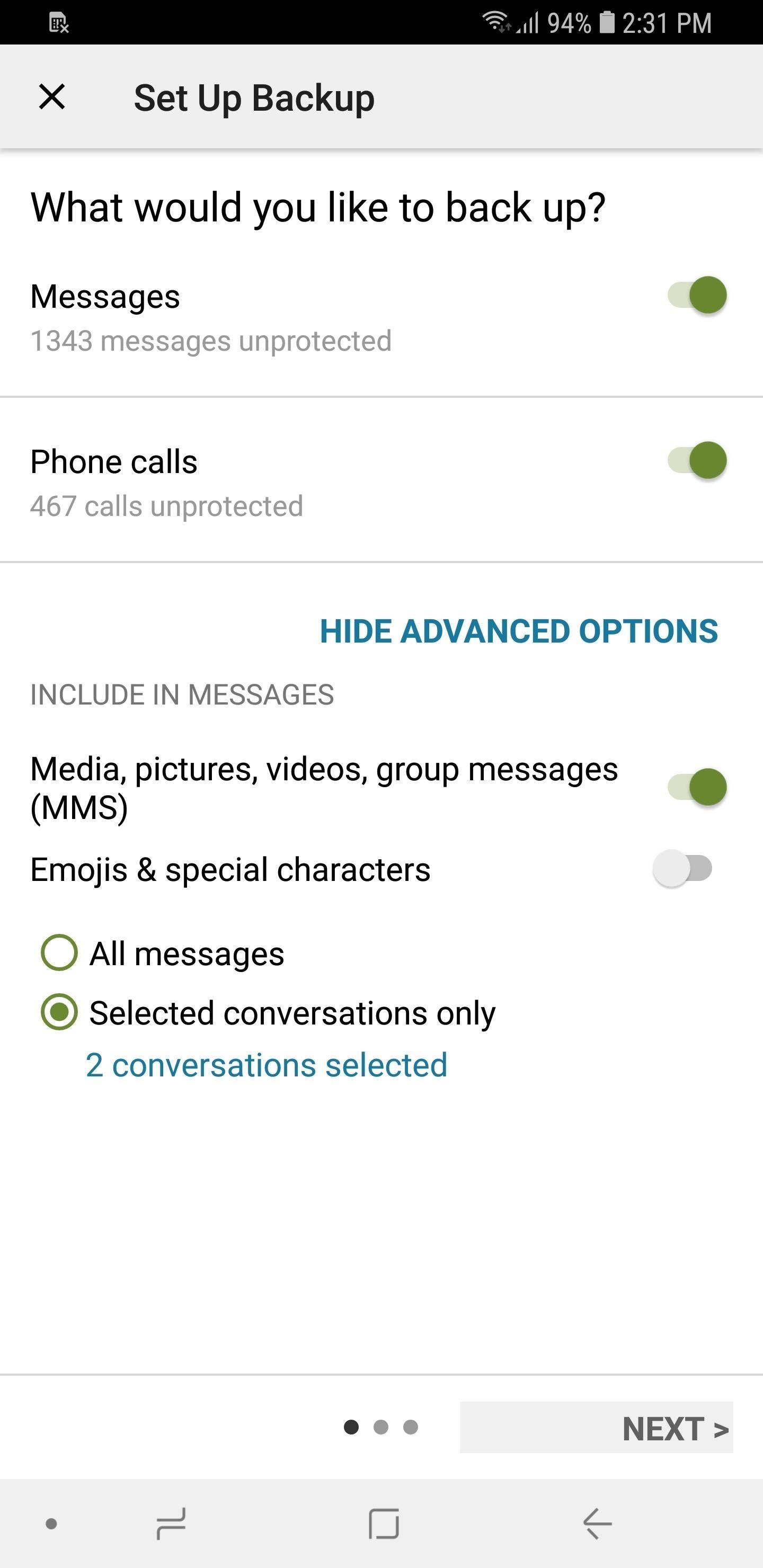 كيفية استخراج والنسخ الاحتياطي لجميع الرسائل النصية الخاصة بك على الروبوت