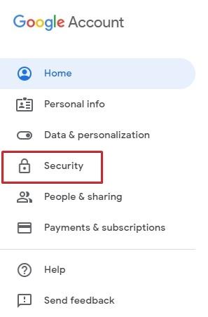 إعدادات أمان حساب Google