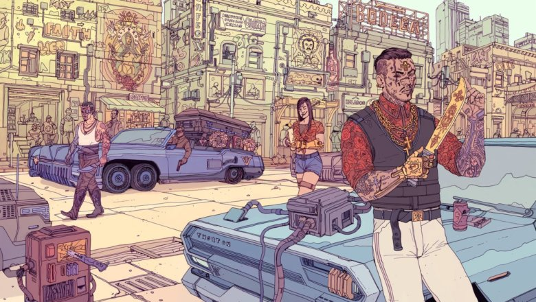 يعرض Cyberpunk 2077 التصميم النهائي لأحد كتب الصلب الخاصة به 1