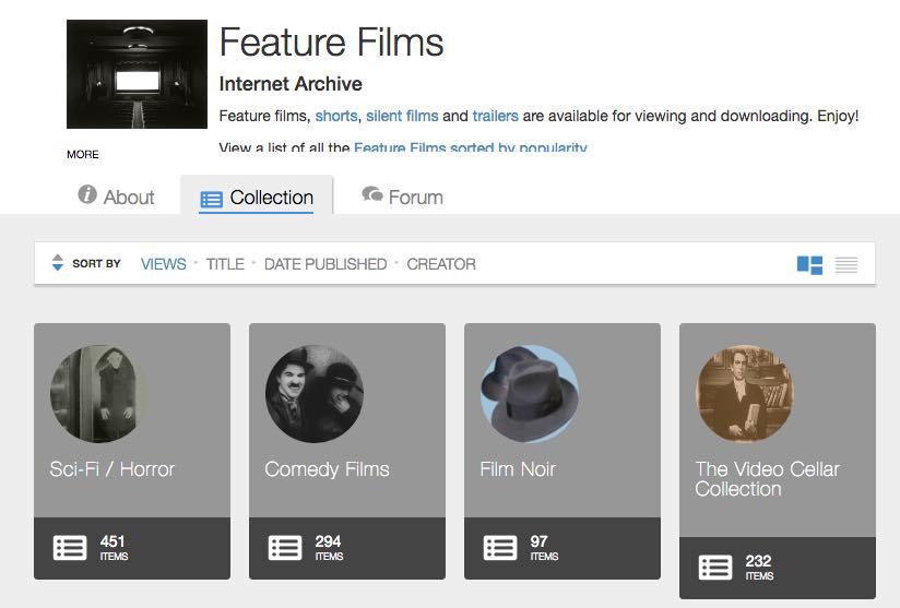 أرشيف الإنترنت أفلام الروائية الحرة