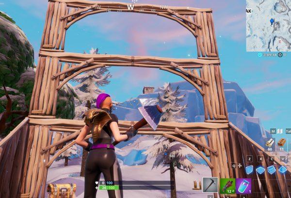 Fortnite: الرقص أمام تمثال الخفافيش ، في حمام سباحة فوق الأرض وعلى مقعد للعمالقة 3