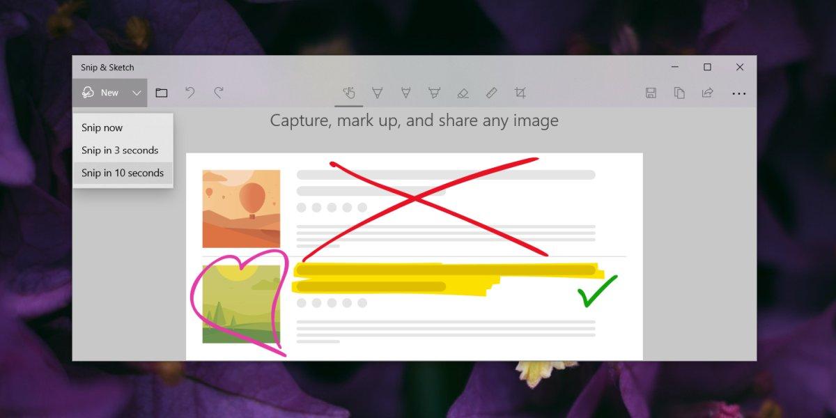 كيفية التقاط القوائم باستخدام Snip & Sketch Windows 10 1