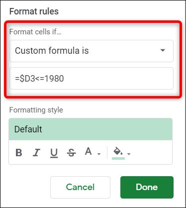 اكتب الصيغة الخاصة بك التي تريد استخدامها للبحث عن البيانات. تأكد من استخدام علامة الدولار قبل حرف العمود. هذا يجعل الصيغة يوزع فقط العمود المحدد.