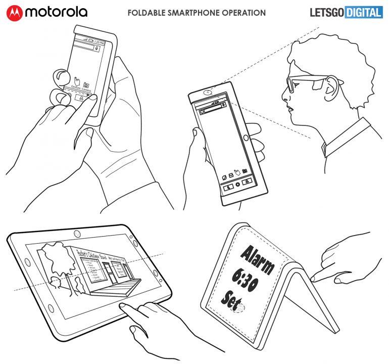 تسرب هاتف موتورولا القابل للطي في طلب البراءة 5